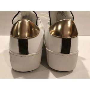 Michael Kors Shoes - Michael Kors mindy sneakers optic white brown 7 M
